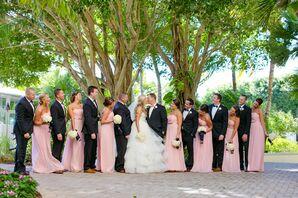 Donna Morgan Long, Light Pink Bridesmaid Dresses