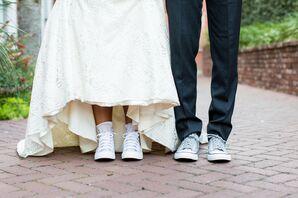Custom Wedding Converse at 701 Whaley in Columbia, South Carolina