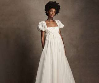 puff sleeve wedding dress