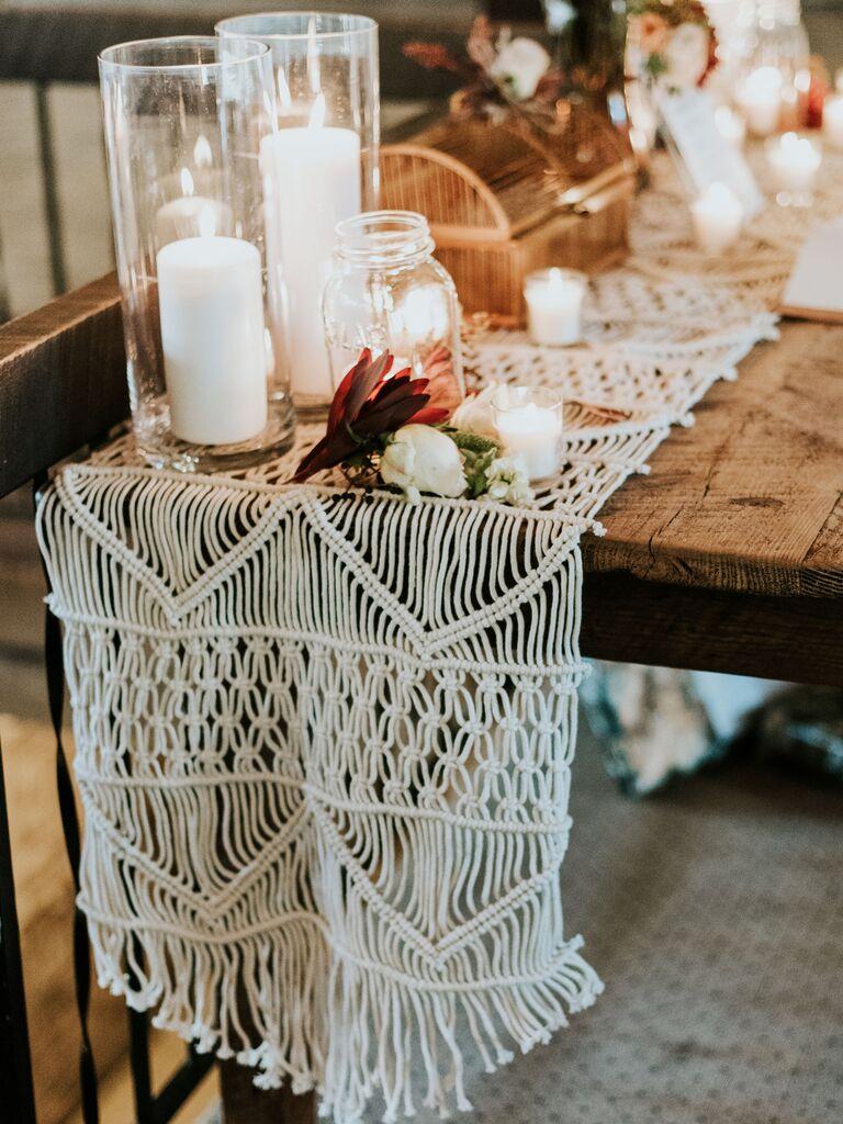 Fall wedding ideas macrame accents