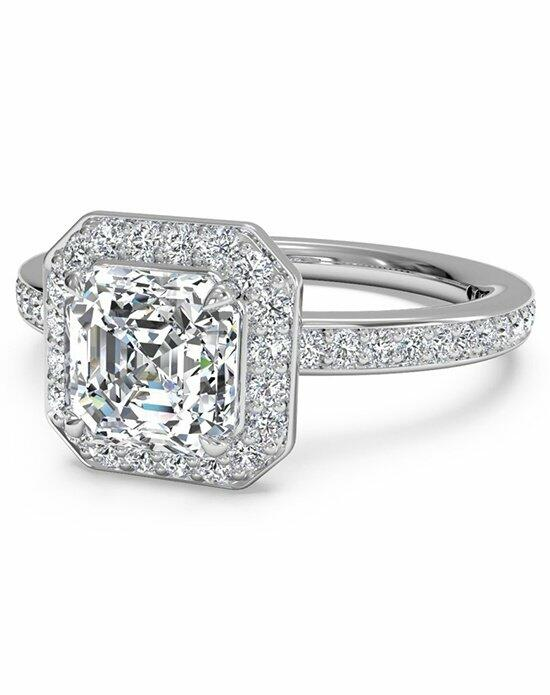 Ritani Asscher Cut Halo Micropave Diamond Band Engagement Ring in Platinum (0.28 CTW) Engagement Ring photo
