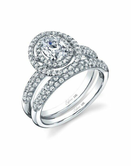 Sylvie Collection SY688 OV Engagement Ring photo