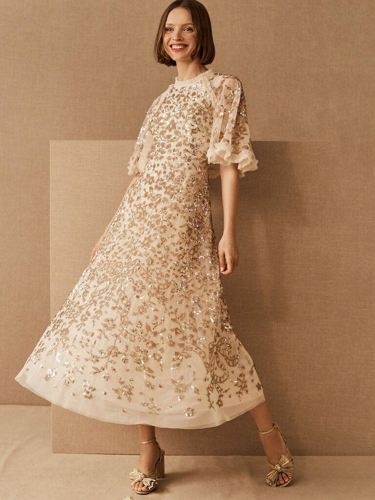BHLDN reception dress