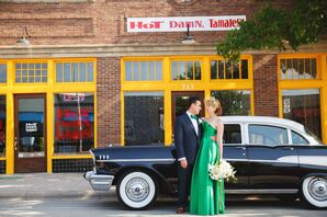 Nontraditional Emerald Green Wedding Dress