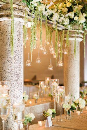 Hanging Glass Globes and Amaranthus