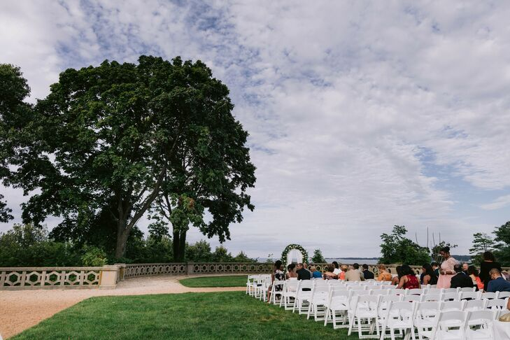 Wedding Ceremony Decor at The Hempstead House in Sands Point, New York
