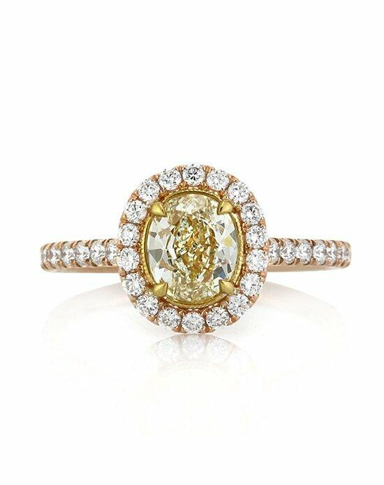 Mark Broumand 1.70ct Fancy Light Yellow Oval Cut Diamond Engagement Anniversary Ring Engagement Ring photo