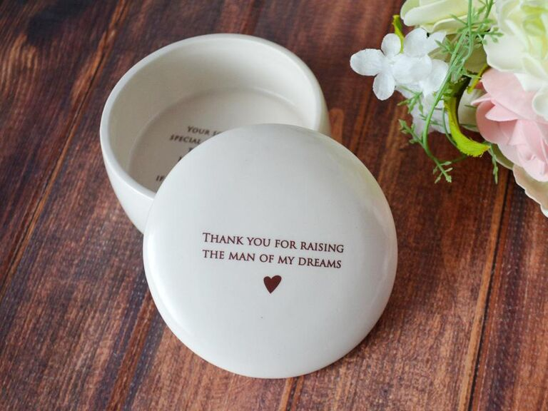 Thoughtful trinket box for mother-in-law