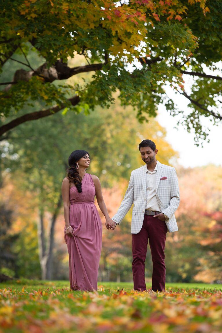 Sweeti and Sunay engagement photo Detroit MI