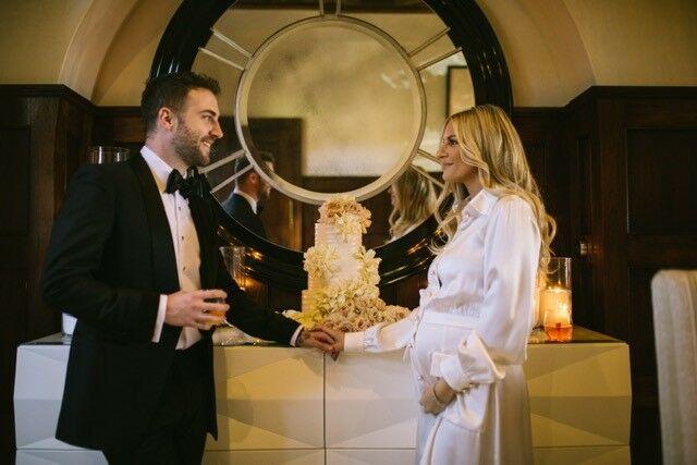 cake morgan stewart wedding