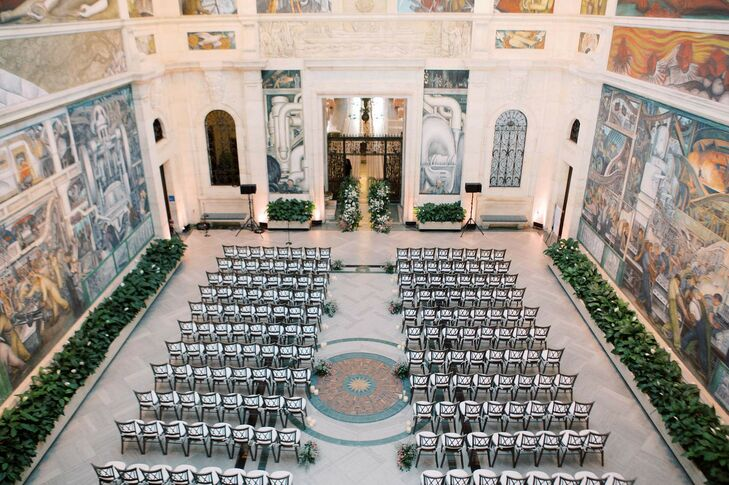 Seating for Ceremony at Detroit Institute of Arts Wedding