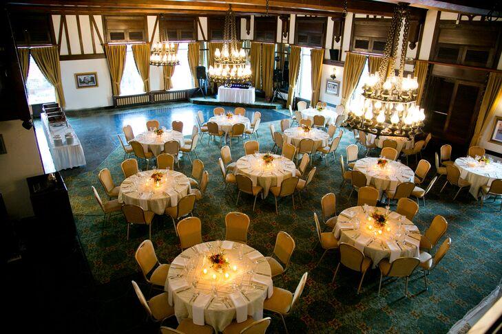 Blue and Gold Modern Reception Venue at Alex Johnson Hotel