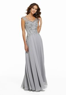 MGNY 72021 Silver,Champagne,Black Mother Of The Bride Dress