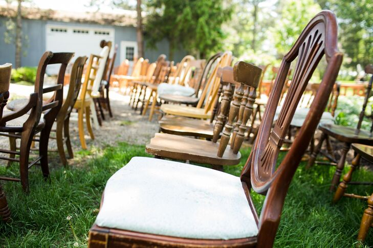 Ceremony Seating Wooden Chairs