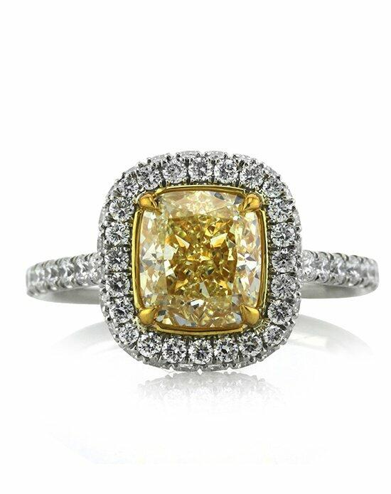 Mark Broumand 3.10ct Fancy Light Yellow Cushion Cut Diamond Engagement Ring Engagement Ring photo