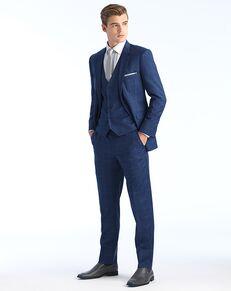 Allure Men Cobalt Window Pane Blue Tuxedo