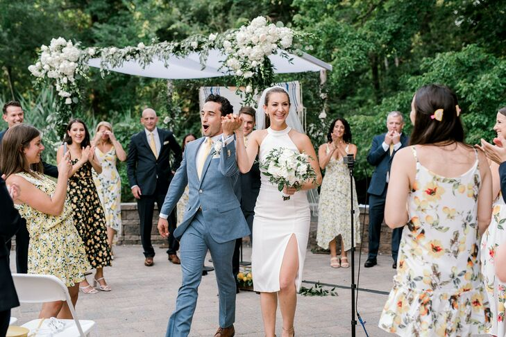 Bride and Groom at Backyard Minimony in New York
