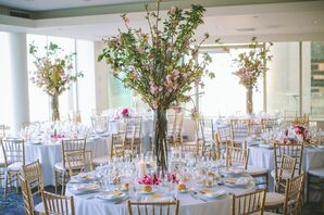 Tall Cherry Blossom Dining Table Centerpieces