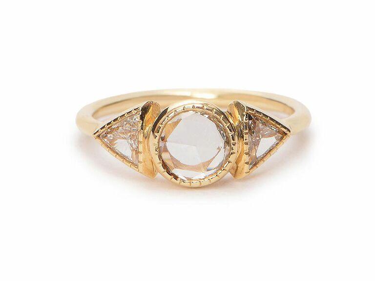 Jennie Kwon rose cut diamond engagement ring