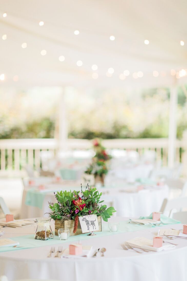 Airy Pastel Tented Reception