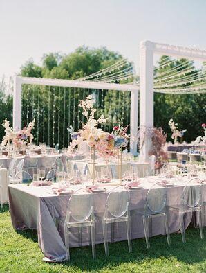 Wedding Reception Decor at Greengate Ranch and Vineyard in San Luis Obispo, California