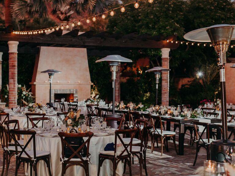winter wedding ideas space heaters