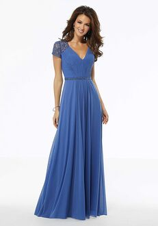 MGNY 72104 Silver,Blue Mother Of The Bride Dress