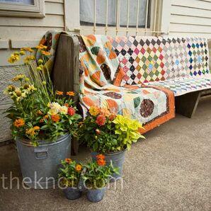 Outdoor Bench Decor