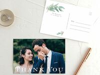 Wedding thank-you note postcard from The Knot Invitations