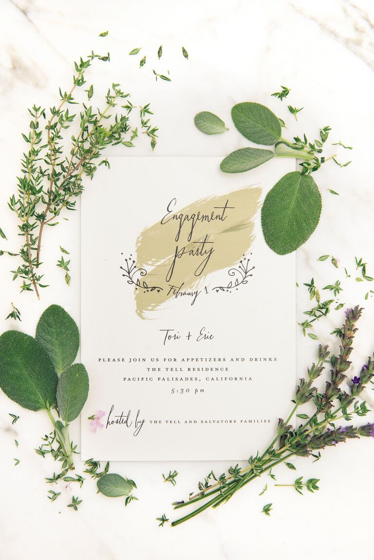 Lauren Conrad Celebrate engagement party invitation from Minted