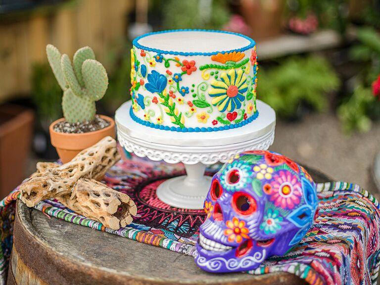 A Southwestern-Themed Bridal Shower Cake