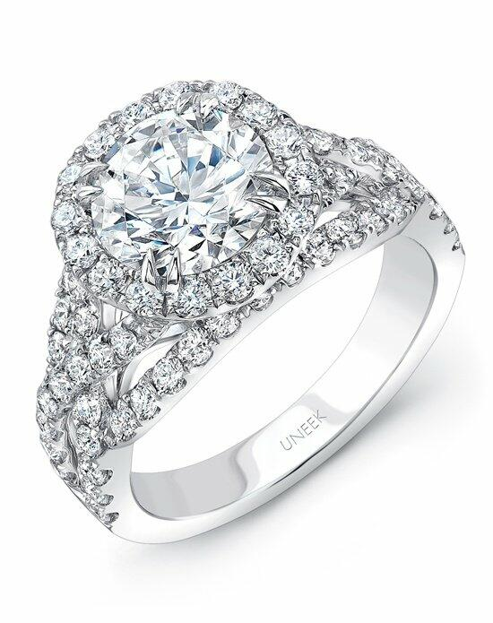 Uneek Fine Jewelry SM826W-8.0RD Engagement Ring photo