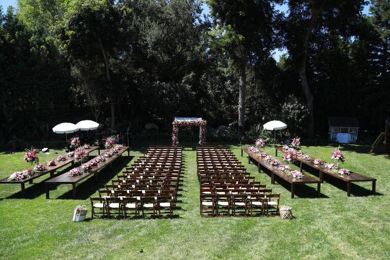 garrett clayton wedding setup disney estate