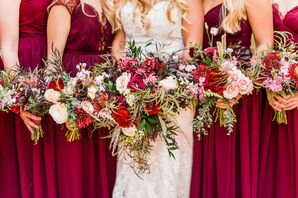 Romantic Bouquets with Roses, Peonies and Grasses