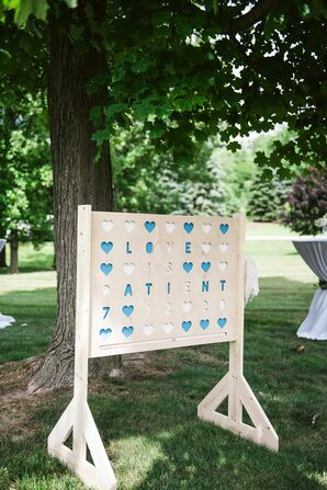 Oversized Connect Four Lawn Game for Backyard Wedding Reception