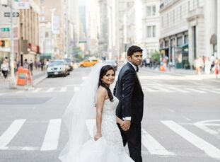 Charlene Miranda and Sanket Bhimani planned an intimate, romantic wedding laced with New York City flair for their summer wedding at the NoMad Hotel.