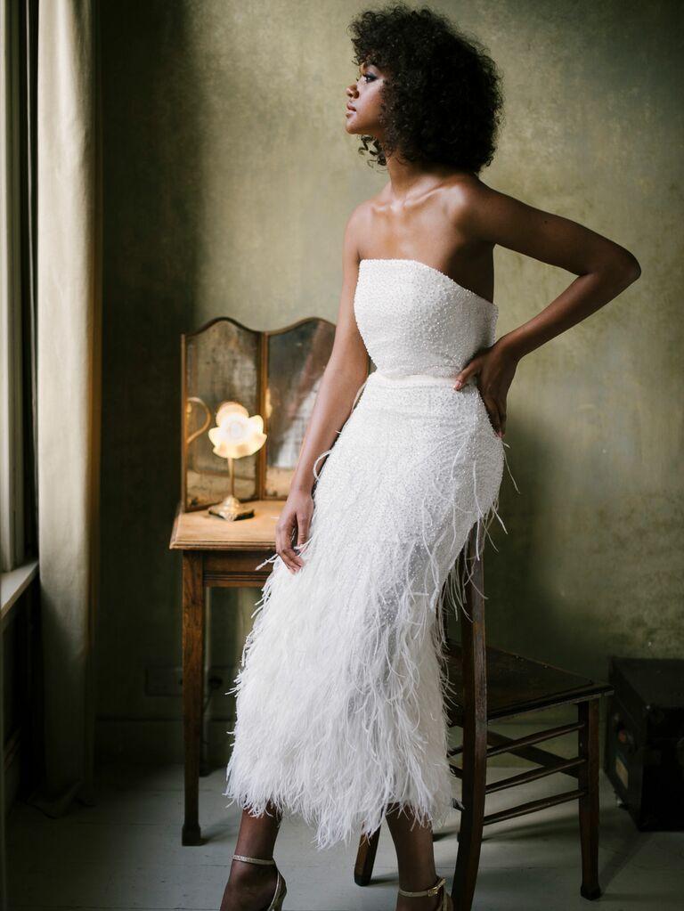 Valentine Avoh wedding dress