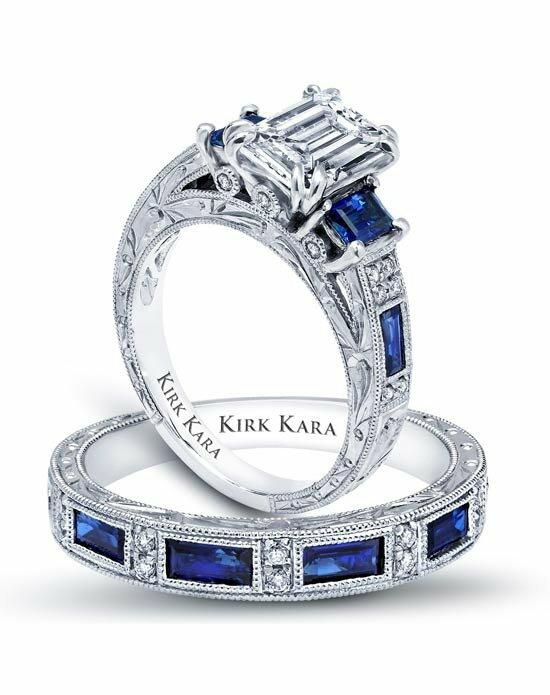 Kirk Kara Charlotte Collection K1384SDE-R & SS6685-B1 Engagement Ring photo