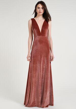 Jenny Yoo Collection (Maids) Logan V-Neck Bridesmaid Dress
