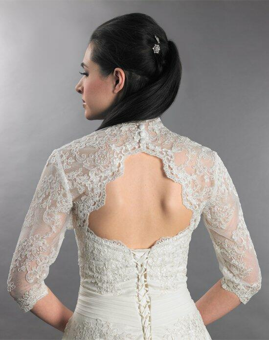 Tulip Bridal 3/4 Sleeve Ivory Lace Bolero Jacket with Keyhole Back Wedding Jackets photo