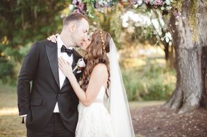 Romantic Couple Shot with Willow Tree Backdrop