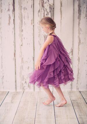 Kid's Dream 8055 Purple,Champagne,Ivory,White,Pink,Blue Flower Girl Dress