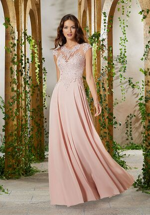 MGNY 71920 Gray,Pink,Silver Mother Of The Bride Dress