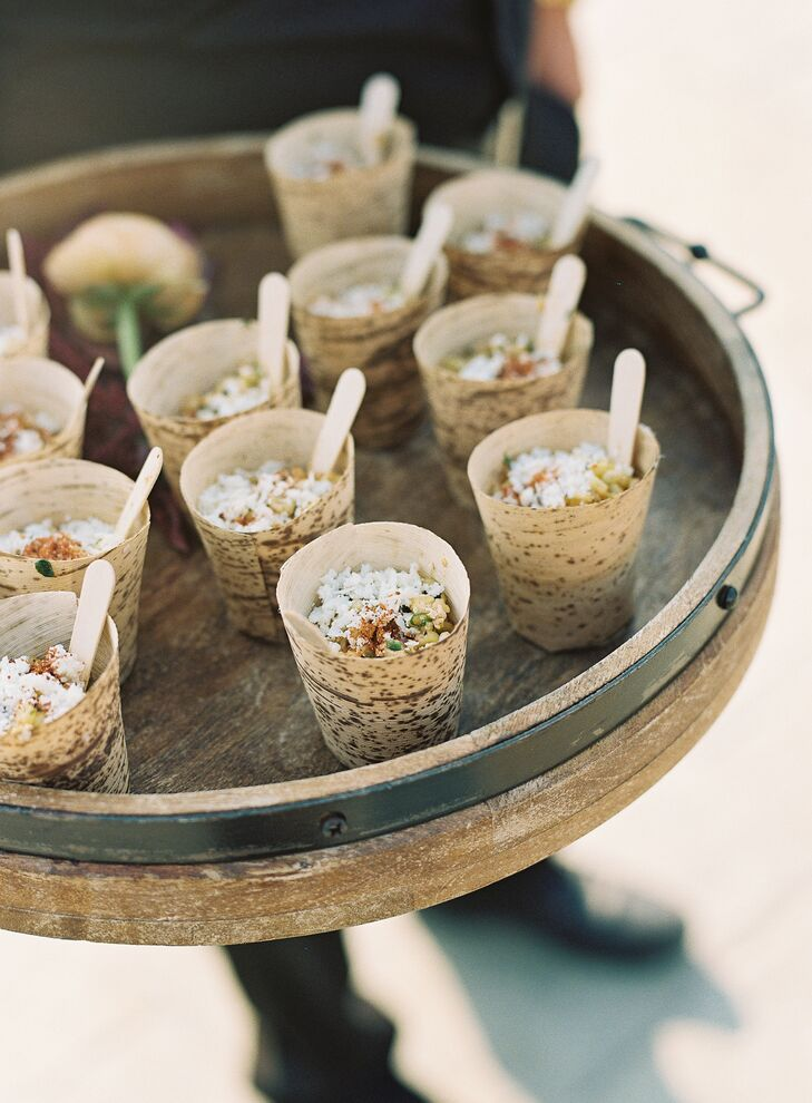 Mexican Street Corn Hors D'Oeuvres in Bamboo Cups