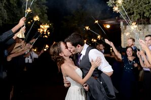 Sparkler Exit from the Inn at Wild Rose Hall in Austin, Texas