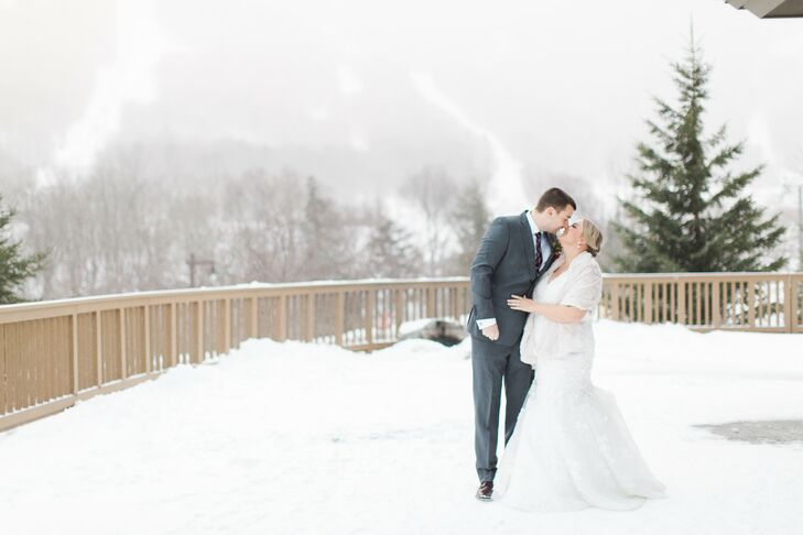 Having always dreamt of a winter wedding, Hayley Kuhn (30 and a physician) knew fresh snow was absolutely necessary to bring her alpine vision to life