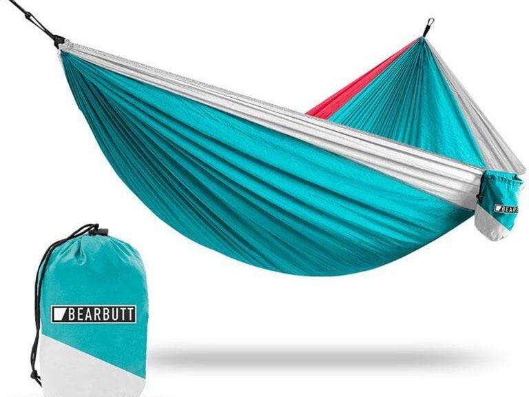 Teal double hammock