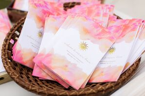 Pink and Peach Watercolor Programs