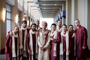 Traditional Red Kurta Pyjamas
