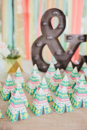 Geometric 'Tea-Pee' Wedding Favors